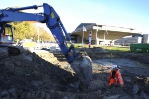 Construction on campus has started - Photo: Tomas van Dijk